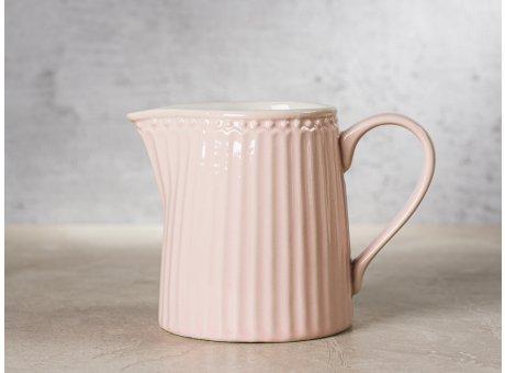 Greengate Milchkännchen ALICE Rosa Everyday Keramik Geschirr Pale Pink Creamer Rillenmuster Hygge für jeden Tag