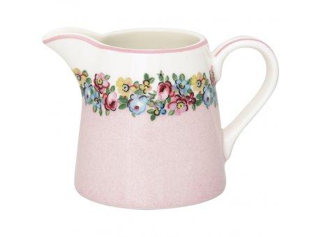 Greengate Milchkännchen MADISON Rosa Weiss Blumen Sahnekännchen 200 ml Greengate Kanne Nr STWCREMDS0104
