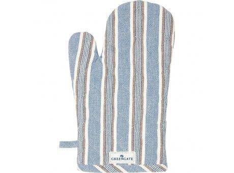 Greengate Ofenhandschuh IVAH Streifen Blau Weiß Greengate BBQ Handschuh Nr COTGRIIVS2504