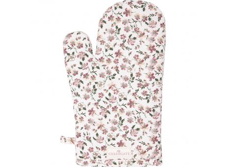 Greengate Ofenhandschuh MARIE PETIT Dusty Rose Blumen Greengate BBQ Handschuh Nr COTGRIMPE1104