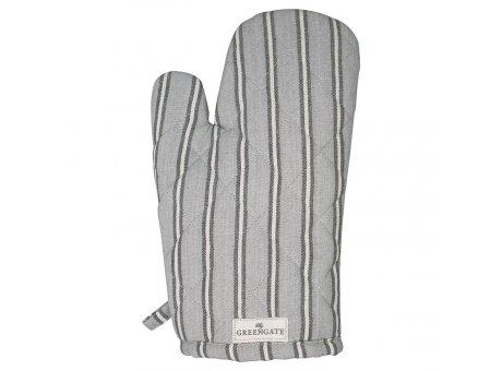 Greengate Ofenhandschuh RILEY Grau Schwarz Gestreift Baumwolle BBQ Handschuh GG Produkt Nr COTGRIRLY8104