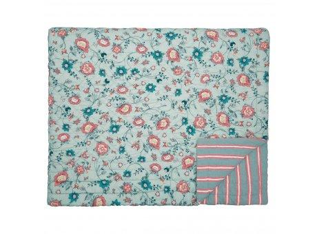 Greengate Quilt SIENNA Dusty Mint Grün Blumen Decke 180x230 cm GG Tagesdecke Nr QUIBED180SIE4102
