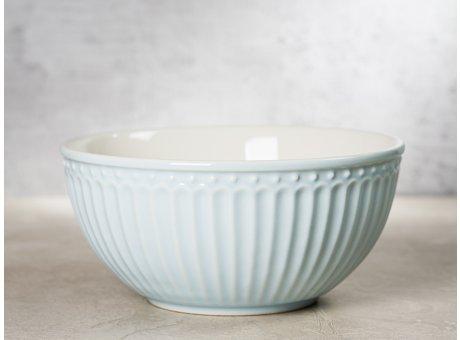 Greengate Schale ALICE Hellblau Müslischale Everyday Keramik Geschirr Pale Blue 450ml Rillenmuster Hygge für jeden Tag