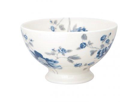 Greengate Schale CHARLOTTE Weiss Blau Blumen Schüssel 500 ml GG Produkt Nr STWSOUCHL0106