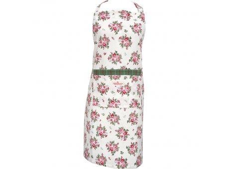 Greengate Schürze CHARLINE Weiß Blumen Küchenschürze Greengate Kochschürze Nr COTAPRCHN0104