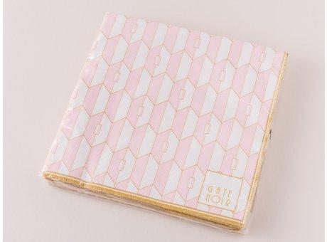 Greengate Servietten Aurelie Pale Pink Rosa Gate Noir Papierservietten