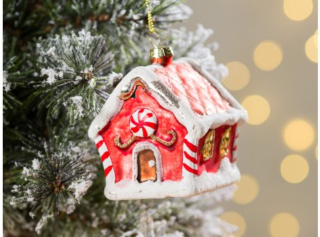 Greengate Tannenbaumhänger Lebkuchen Haus gross ca 7,5 cm hoch Weihnachtsdeko Baumschmuck für den schönsten Weihnachtsbaum