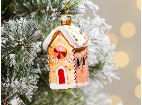 Greengate Tannenbaumhänger Lebkuchen Haus klein ca 6,5 cm hoch Weihnachtsdeko Baumschmuck für den schönsten Weihnachtsbaum