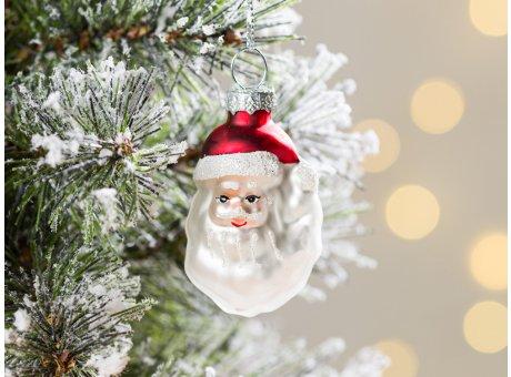 Greengate Tannenbaumhänger Santa mit Bart ca 5,5 cm hoch Weihnachtsdeko Baumschmuck für den schönsten Weihnachtsbaum