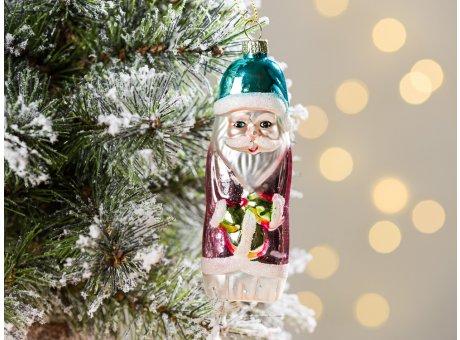 Greengate Tannenbaumhänger Santa Pale Pink Rosa ca 10 cm hoch Weihnachtsdeko Baumschmuck für den schönsten Weihnachtsbaum