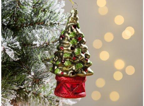 Greengate Tannenbaumhänger Weihnachtsbaum Grün ca 13 cm hoch Weihnachtsdeko Baumschmuck für den schönsten Weihnachtsbaum
