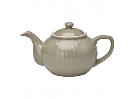 Greengate Teekanne ALICE Grau Kanne Everyday Geschirr Warm Grey 1 Liter Greengate Produkt Nr STWTEPAALI8304