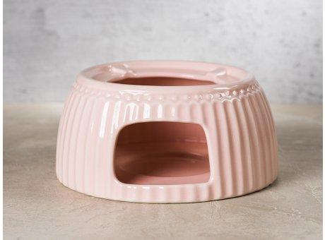 Greengate Teewärmer ALICE Rosa Stövchen für Teekanne Everyday Keramik Geschirr Warmer Pale Pink Rillenmuster Hygge für jeden Tag