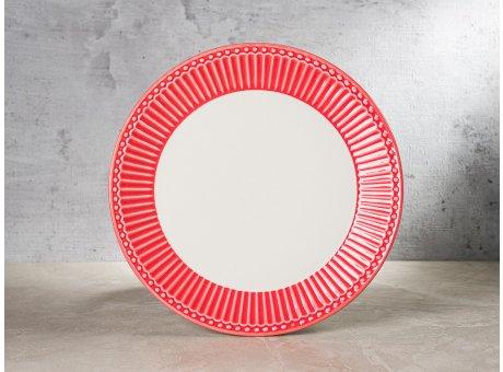 Greengate Teller ALICE Koralle Kuchenteller Everyday Keramik Geschirr Coral 23 cm Rillenmuster Hygge für jeden Tag