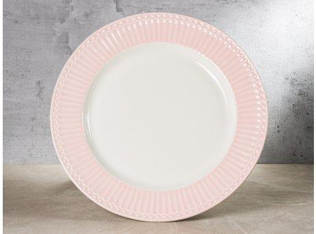 Greengate Teller ALICE Rosa Essteller Everyday Keramik Geschirr Dinner Plate Pale Pink 26 cm Rillenmuster Hygge für jeden Tag