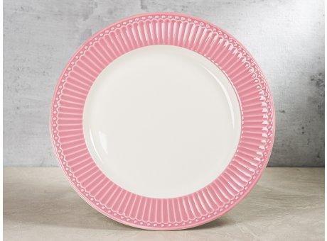 Greengate Teller ALICE Staubig Rosa Essteller Everyday Keramik Geschirr Dinner Plate Dusty Rose 26 cm Rillenmuster Hygge für jeden Tag