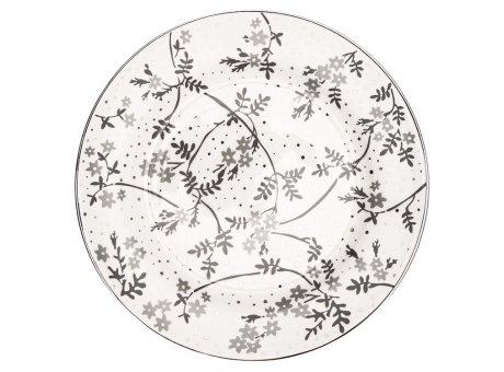 Greengate Teller AMIRA Weiss Grau Kuchenteller 20 cm GG Produkt Nr STWPLAAMR0106