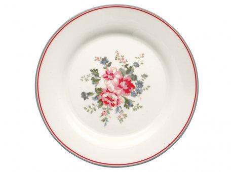 Greengate Teller ELOUISE Weiss mit Blumen Kuchenteller 20 cm GG Produkt Nr  STWPLAELO0106