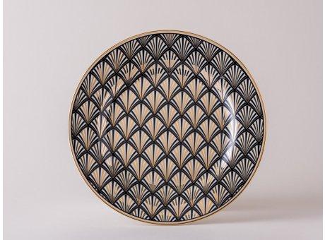 Greengate Teller Gate Noir Celine gold schwarz Kuchenteller im Art Deko Design
