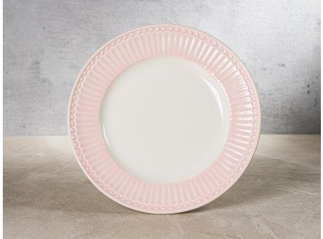 Greengate Teller Klein ALICE Rosa Dessertteller Everyday Keramik Geschirr Small Plate Pale Pink 17 cm Rillenmuster Hygge für jeden Tag
