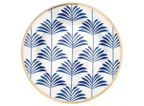 Greengate Teller MAXIME Blau Weiss Gate Noir Kuchenteller mit Goldrand  Porzellan 20cm Greengate Produkt Nummer STWPLAGNMAX2506