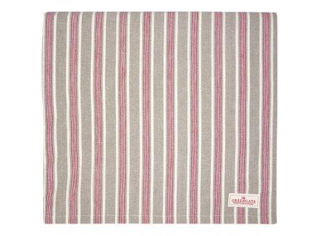 Greengate Tischdecke IVAH Streifen Beige Rot Baumwolle 145x250 cm Greengate Tischtuch Nr COTTAB250IVS5802