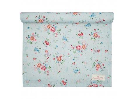 Greengate Tischläufer BELLE Pale Blue Blumen Baumwolle Tischdecke 45x140 cm Blau Greengate Produkt Nr COTTAR140BLL2904