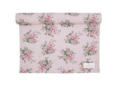 Greengate Tischläufer MARIE DUSTY ROSE Rosa Blumen Baumwolle Greengate Tischdecke Nr COTTAR140MAR1104