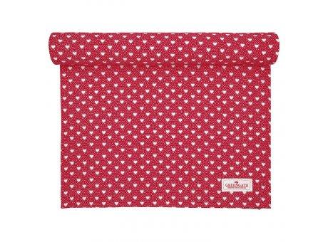 Greengate Tischläufer PENNY Rot Herzen Baumwolle Tischdecke 45x140 cm GG Produkt Nr COTTAR140PNY1004
