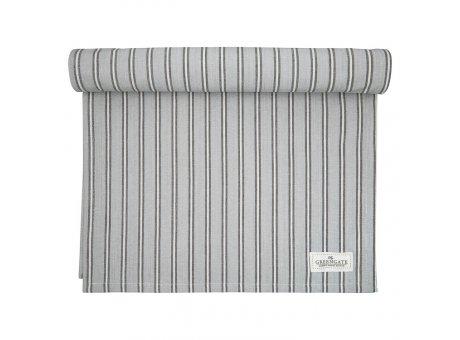 Greengate Tischläufer RILEY Grau Schwarz Gestreift Baumwolle Tischdecke 45x140 GG Produkt Nr COTTAR140RLY8104