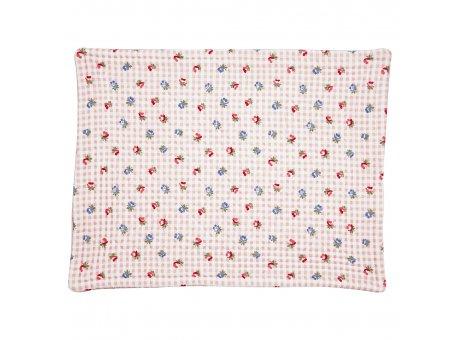 Greengate Tischset VIOLA Pale Pink Check mit Blumen Rosa Weiss Karo quilted Baumwolle 35x45 Greengate Platzset Nr QUIPLA35VCH1906