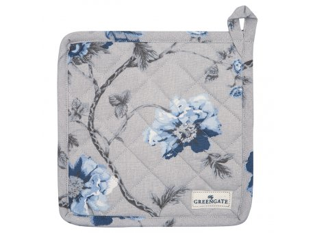 Greengate Topflappen CHARLOTTE Grau Blau Blumen 2er Set Baumwolle GG Produkt Nr COTPOTCHL8104
