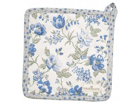 Greengate Topflappen DONNA Blau mit Blumen 2er Set Baumwolle Hellblau GG Produkt Nr COTPOTDON2504