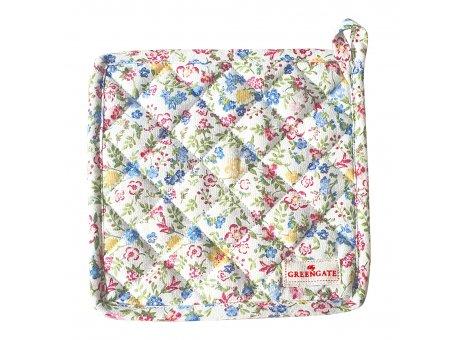 Greengate Topflappen SOPHIA Weiss mit Blumen 2er Set Baumwolle Greengate Produkt Nr COTPOTSOA0104