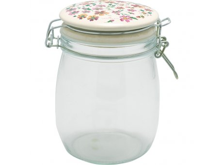 Greengate Vorratsglas MARIE PETIT Dusty Rose 0,75L Glas mit Deckel aus Keramik Aufbewahrungsdose Greengate Vorratsdose Nr GLASTO075LMPE1106