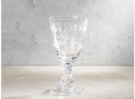 Greengate Weinglas Klein mit Muster geschliffen Weißwein Glas Klar modernen Chic und Nostalgie Design