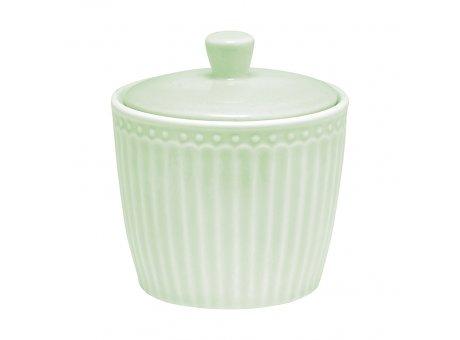 Greengate Zuckertopf ALICE Grün Everyday Geschirr Pale Green Sugar Pot hellgrün Greengate Produkt Nr STWSUGAALI3906