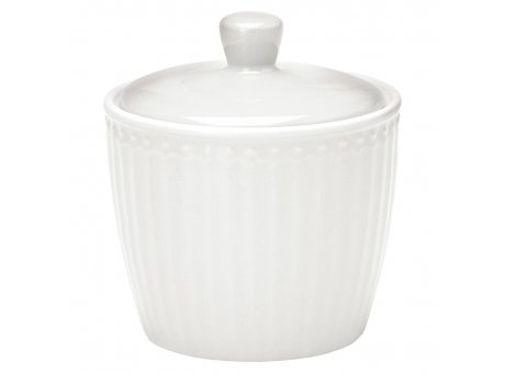 Greengate Zuckertopf ALICE WEISS Everyday Geschirr White Sugar Pot Greengate Produkt Nr STWSUGAALI0106