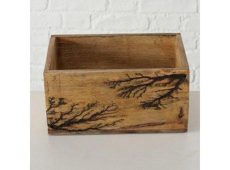 Holzkiste PELLE 14x22 cm Rustikal Natur Holz Box Nr. 12.083-09928-22