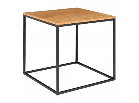 House Nordic Beistelltisch VITA Braun 45x45cm eckig Metall Holz Couchtisch Nachttisch Nr. 2101405