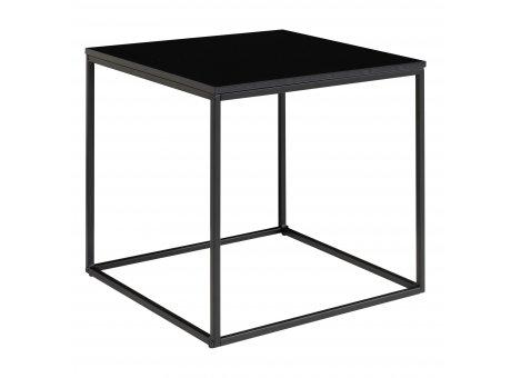House Nordic Beistelltisch VITA Schwarz 45x45cm eckig Metall Holz Couchtisch Nachttisch Nr. 2101400