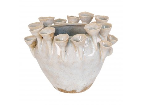 House Nordic Blumentopf ALIANO 16 cm Keramik Vase Übertopf Nr. 4452000