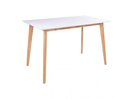 House Nordic Esstisch Holztisch Weiß Natur VOJENS Holz Tisch 70x120cm Nr. 2201030