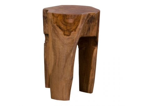House Nordic Hocker ROSE 26x40 cm Beistelltisch Teak Holz Sitzhocker Nr 1501020