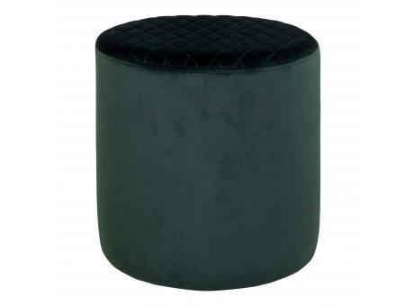 House Nordic Pouf EJBY Samt Grün 34x36 cm Beistelltisch Rund Sitzhocker Nr 1501104
