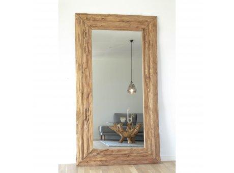 House Nordic Spiegel GRANADA Teak Holz UNIKA 100x180 cm rusikal Natur groß Nr. 4001010