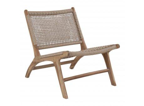 House Nordic Stuhl DERBY Teak Holz Poly Rattan Geflecht Nr 1101500
