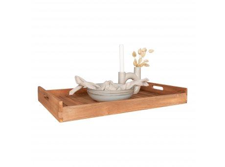 House Nordic Tablett FARO Teak Holz groß XL Servierbrett Nr. 4601025