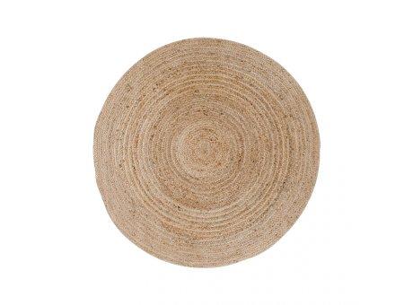 House Nordic Teppich BOMBAY Jute Rund 120 cm beige braun natur Nr. 3981093