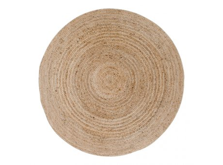 House Nordic Teppich BOMBAY Jute Rund 180 cm beige braun natur Nr. 3981092
